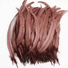 30-35 см/12-14 дюймов коричневое перо петушиное перо перья для продажи центральный Свадебные украшения хвостовые перья птиц