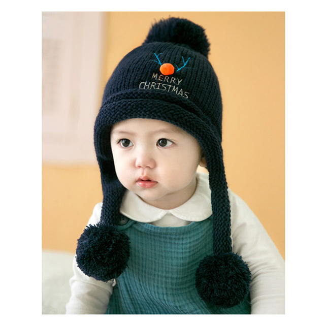 baby winter hat 6 months to 3 years kids boy and girl yellow pink blue gray  cap 1-2 years baby cute cap H-013 e40b7246ab7