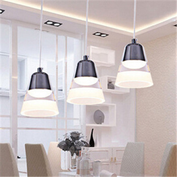 ФОТО modern brief acrylic pendent led lamp for bar resturant dining room pendent lighting lamp N1021