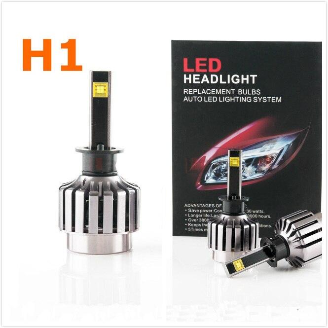 2 pièces 30 W H1 Voiture phare LED Kit LED Remplacement Ampoule Phare Antibrouillard Lumière 6000 K 12 V 24 V Pas Besoin de Ballast Relais