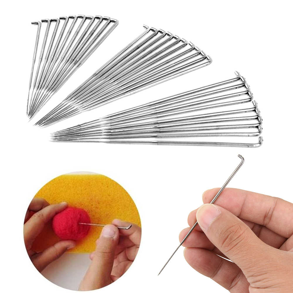 30Pcs 3.5/3.4/3 Inch Handmade Mixed Felting Needles Wool Pin For Wool Felt Kit Embroidery DIY Craft Felt Tool Knitting Accessory