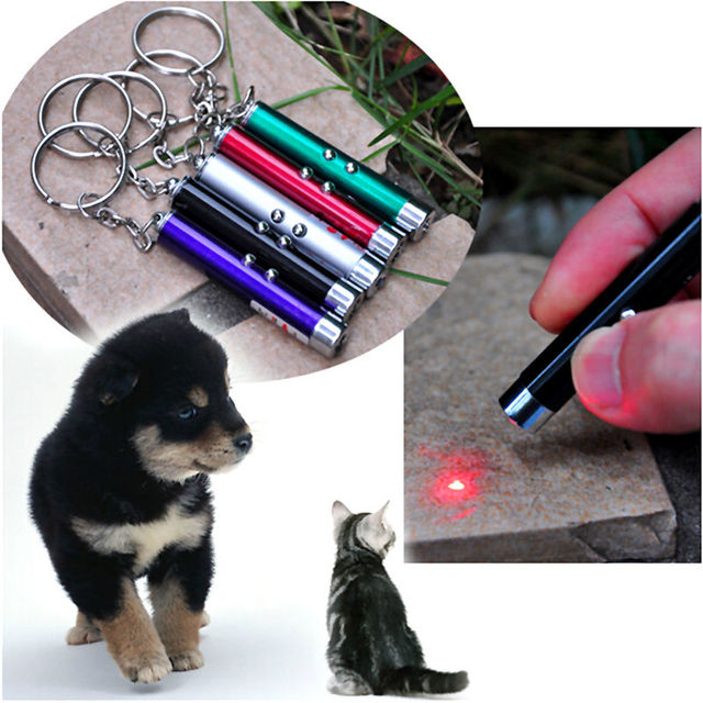 Laser funny cat stick New Cool 2 In1 Red Laser Pointer Pen With White LED Light Childrens Play Cat Toy