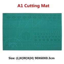 A1 PVC auto curacion rotativa estera de corte de doble cara acolchado de líneas de cuadrícula impreso tablero DIY Patchwork herramientas de corte junta