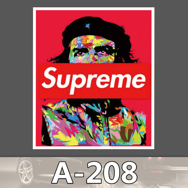 ca8b9ec9836 A-208 Supreme Waterproof DIY Stickers For Laptop Luggage Fridge Skateboard  Car Graffiti Cartoon Stickers
