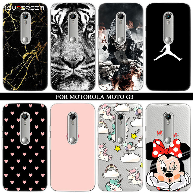new concept 3e52d 257c9 US $1.18 14% OFF|Case for Motorola moto G3 Case Phone Silicone Ultra Thin  Soft TPU Rubber Transparent Clear Back Minnie Cartoon Print Cover-in Fitted  ...