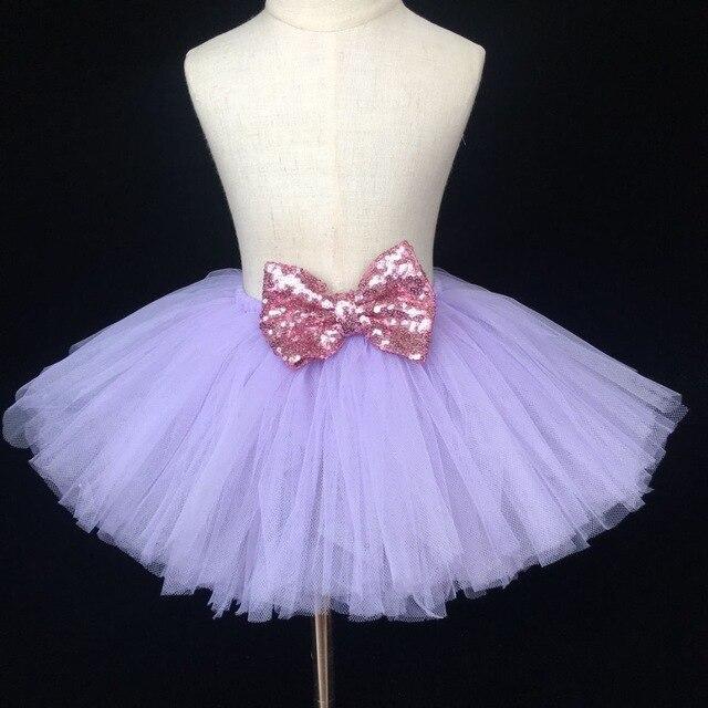 29fccd7d7e Bebê lindo Lantejoulas Saia Tutu Infantil Meninas Fofo Pettiskirts Tule  Ballet Dança Saias Saia com Laço
