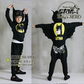 2016 Children Clothing 2 Pcs Set Cotton Batman Cosplay Kids Tracksuit Sport Suit Boys Girls Batwing Sleeve Clothes Roupas 4-11T