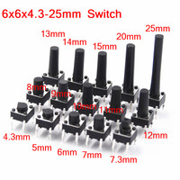 6x6mm Panel PCB Momentary Tactile Takt Mini Push Button Switch DIP 4pin 6x6x4 3 /5/6/7 3 25 MM 6*6*4 3 MM 5 MM 6MM 7MM 8 MM 25 MM Schalter Licht & Beleuchtung -