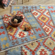 Morocco Imported Turkish National Style Handmade Wool KILIM Kilim Living  Room Sofa Coffee Table Carpet Gc137 6yg4