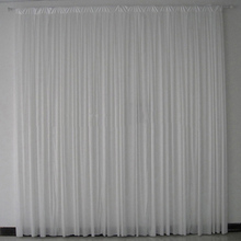 White ice silk pleated Background curtain