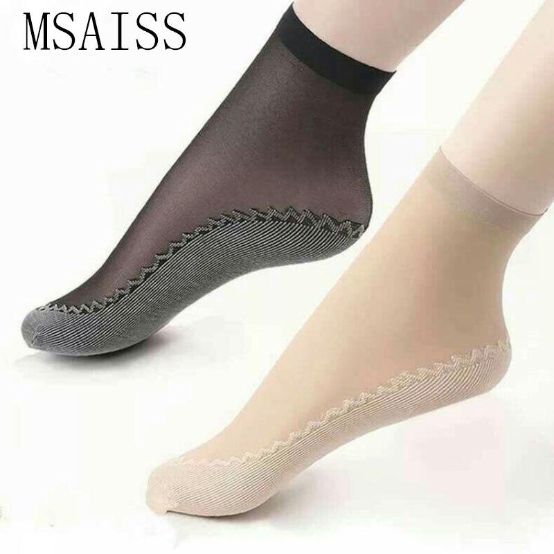 1 Pairs Free Shipping Spring Velvet Silk Womens Socks Soft Non Slip Sole Wicking Socks
