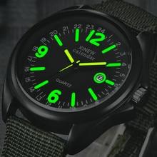 Новые мужские кварцевые часы с черным светящимся циферблатом и нейлоновым ремешком, роскошные спортивные наручные часы orologio uomo 40Q