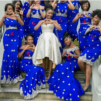 Amazing Royal Bule Mermaid Bridesmaid Gowns 2016 New Design 7 Styles Wholesale High Quality Bridesmaids Dress