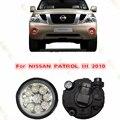 Car styling DRL FARÓIS de NEVOEIRO LUZES DRL LED Fog LÂMPADA Lâmpadas para NISSAN PATROL 3/III 2010-2015 2 PCS Reequipamento AZUL AMARELO BRANCO
