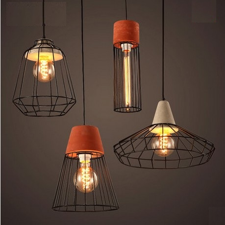 Edison Loft Style Metal Cement Droplight Industrial Vintage Pendant Light Fixtures For Dining Room Hanging Lamp Home Lighting loft style metal water pipe lamp retro edison pendant light fixtures vintage industrial lighting dining room hanging lamp