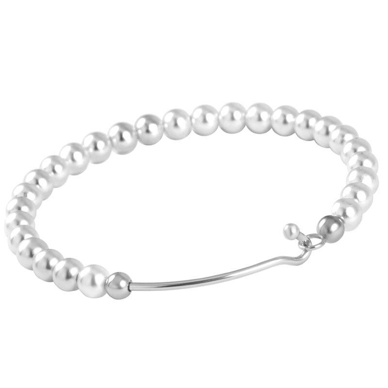 IJB0436 bracelet en perles de mode pour femmes, Design élégant bracelet en fil d'acier inoxydable bracelet de manchette ouvrable Bracelets Fumale accessoires