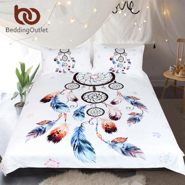 Boho Floral Dreamcatcher Bedding Set