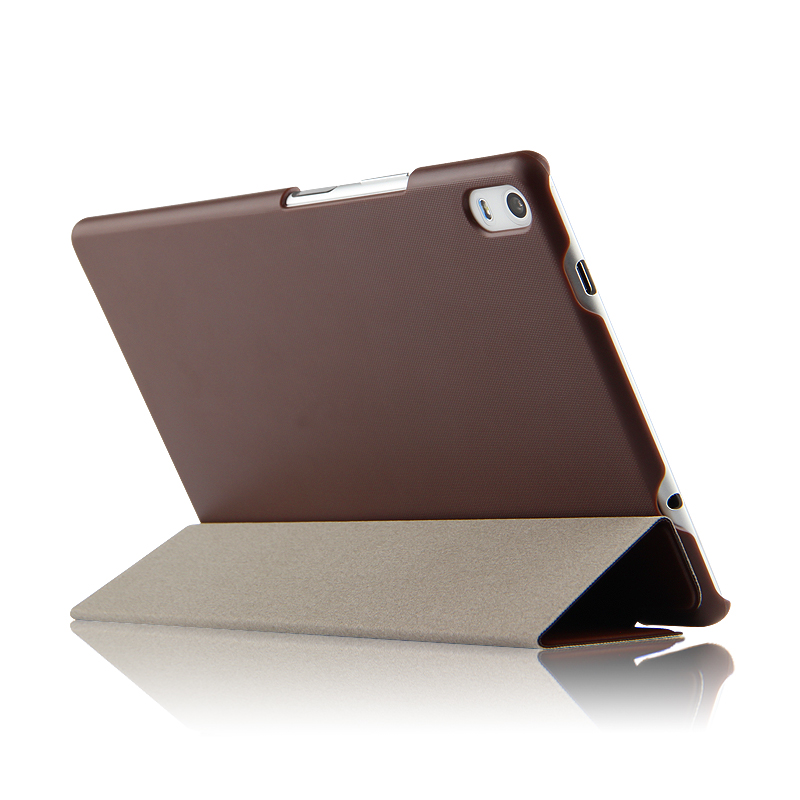 Ultra Thin 3-Folder Folio Stand PU Leather Skin Shell Sleeve Funda Cover Case For Lenovo TAB 4 8 Plus TB-8704N TB-8704F Tablet phab2 plus soft silicone case cover ultraslim tablet phone case 6 44 protective stand for lenovo phab2 plus pb2 670 shell skin