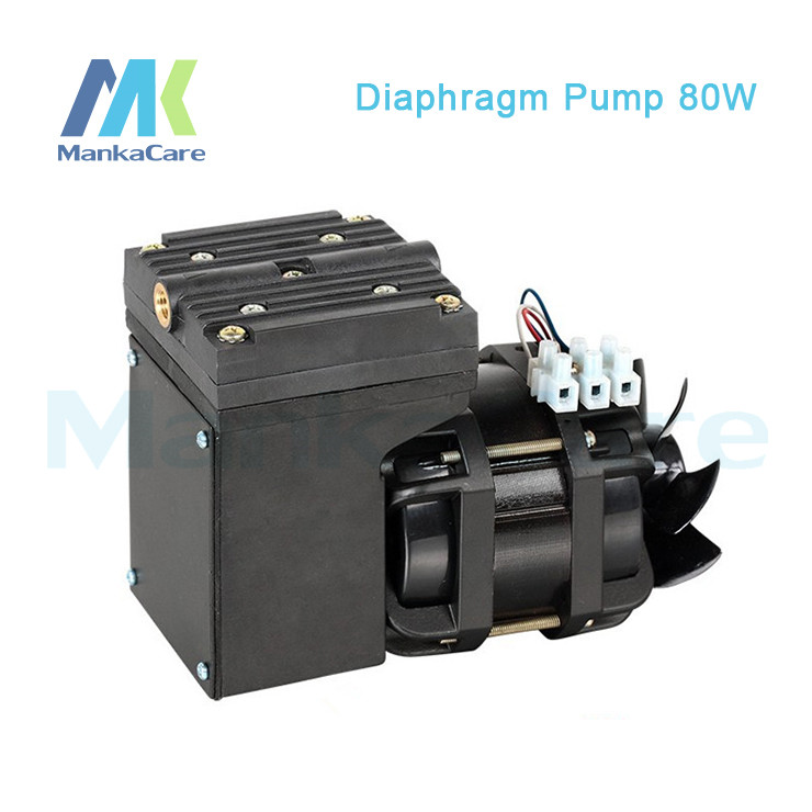 Manka Care - 110V /220V (AC) 33L/MIN 80 W oil free diaphragm vacuum pump/Silent Pumps/Oil Less/Oil Free/Compressing Pump free shipping 220v ac gz35b 220 70l min vacuum flow diaphragm vacuum pump with 100w power oil free double heads vacuum pump