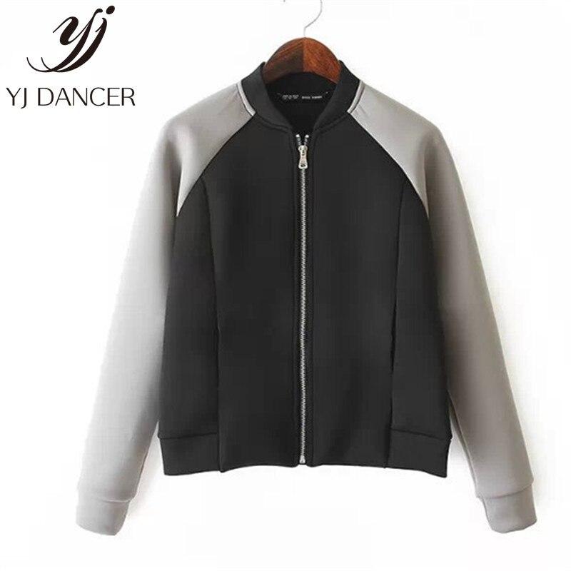 Moda Donna Baseball Cappotto coreano studenti manica lunga giacca Outwear allentato Top