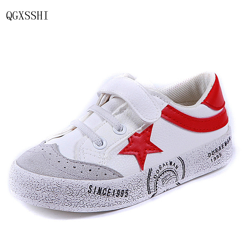 QGXSSHI 2017 New Brand Children Sports Shoes For Kids Baby Boys Girls Breathable Flat Sneakers Low Casual School Students Shoes