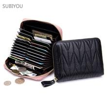 Genuine Leather Multifunction Passport Cover Bag RFID Storage Package Female Purse Women's Wallet Housekeeper ID Holders Purse