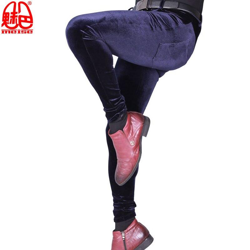 Sexy-Men-Plus-Size-Casual-Shiny-Pants-Elastic-Denim-Jeans-Lattice-Pencil-Pants-Soft-Slim-Clubwear (2)