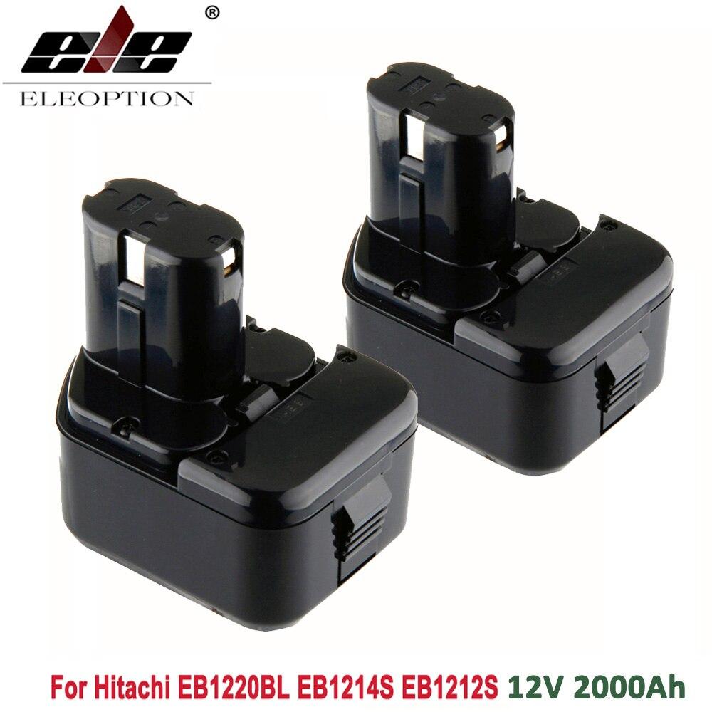 High Quality 2x 2000mAh 12V 2.0Ah Battery for Hitachi EB1214S 12V EB1220BL  EB1212S WR12DMR CD4D DH15DV C5DHigh Quality 2x 2000mAh 12V 2.0Ah Battery for Hitachi EB1214S 12V EB1220BL  EB1212S WR12DMR CD4D DH15DV C5D