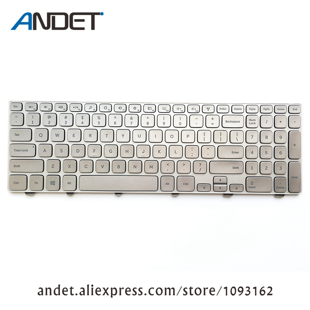 Laptop Keyboard For Dell Inspiron 15 7000 7537 with Backlit US English backlit us new laptop keyboard for dell inspiron 15 7537 7000 p36f 7537 sliver