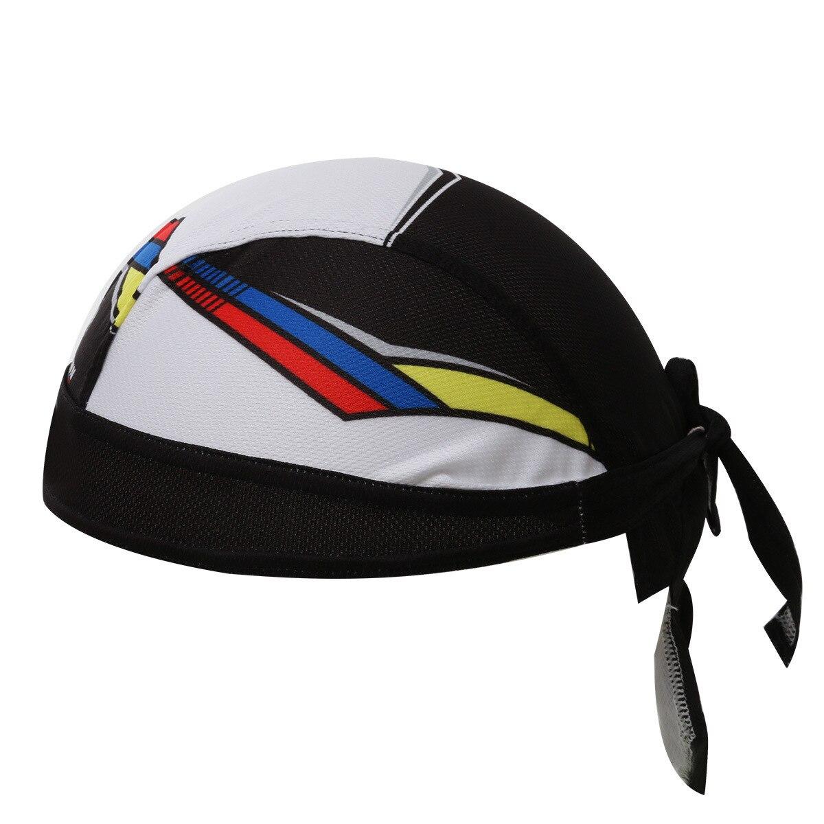Black White Cycling Hat Cap Pirate Head Scarf Road MTB Bike Bicycle Headband Sweatproof Racing Riding Ciclismo Bandana Headwear