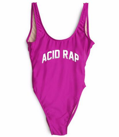 ACID RAP Swimwear One Piece Swimsuit Sexy Bodysuit Bathing Suits Jumpsuit Playsuit Sexy Beachwear
