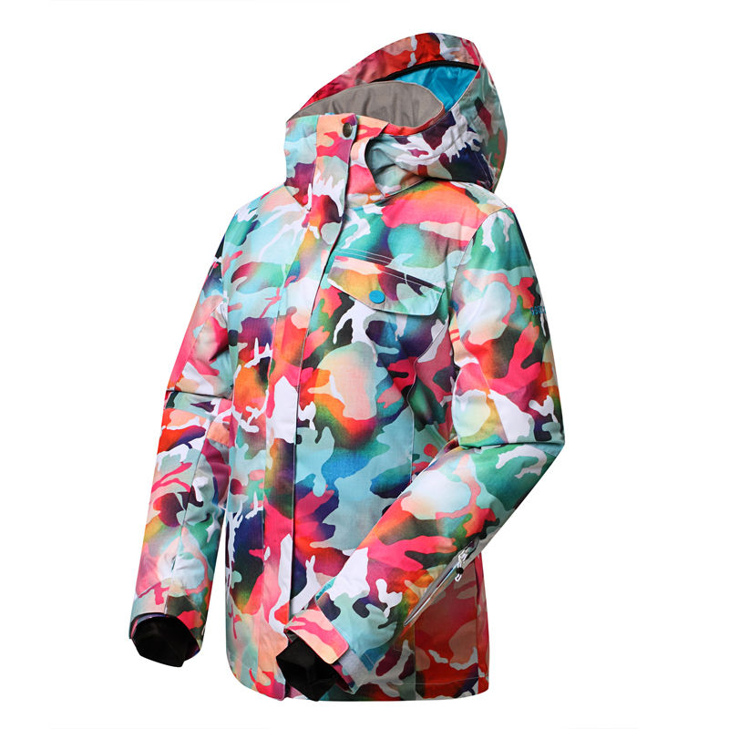 High Quality GSOU SNOW camouflage Women Skiing Jackets Ladies Snowboarding Suit coats 10K Waterproof Winter Warm Snow clothing gsou winter ski jacket women snow sports clothing snowboarding jackets women 10k 10k waterproof warm cotton skiing coat sporwear
