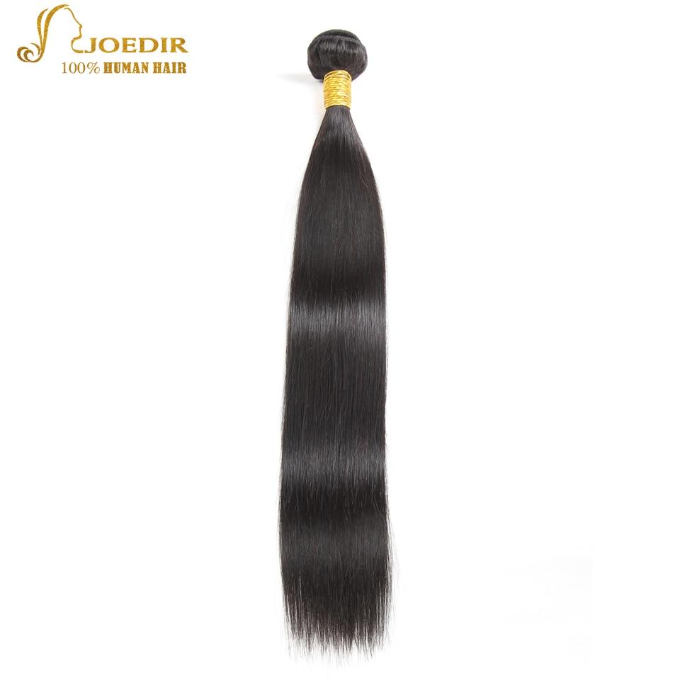 Joedir Peruvian Straight Hair 4 Bundles 100% Human Hair Bundles Deal Peruvian Straight Human Hair Weave Non Remy Hair Extensions