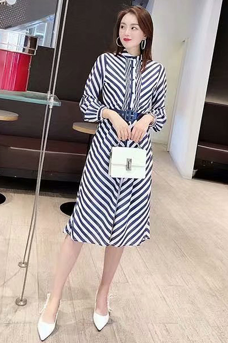 Long Dress High Quality 2019 Spring New Women S Fashion Party Work Sexy Vintage Elegant Chic