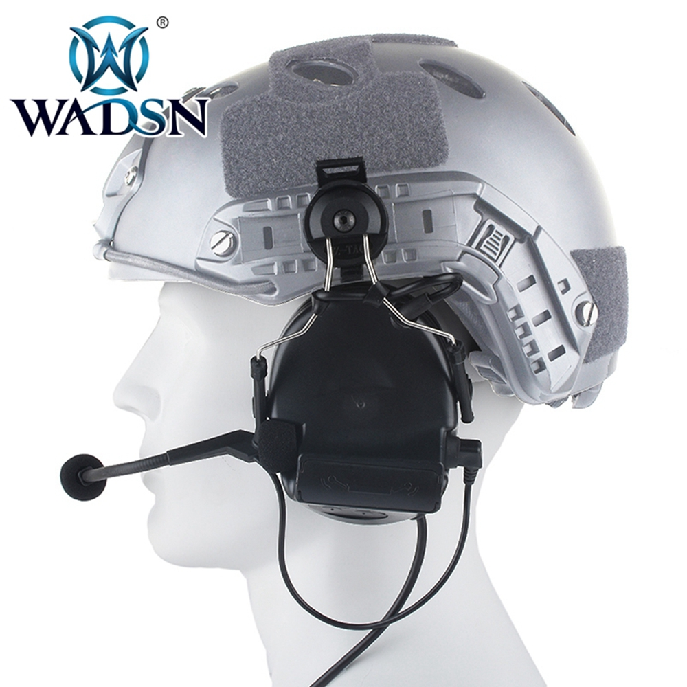 Image 2 - WADSN Comtac II Headset With Peltor Helmet Rail Adapter Set For FAST Helmets Military Airsoft Tactical C2 Headphone WZ031-in Tactical Headsets & Accessories from Sports & Entertainment