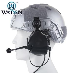 Image 2 - WADSN Comtac השני Softair אוזניות עם Peltor קסדת רכבת מתאם סט עבור מהיר קסדות צבאי Airsoft טקטי C2 אוזניות Z031