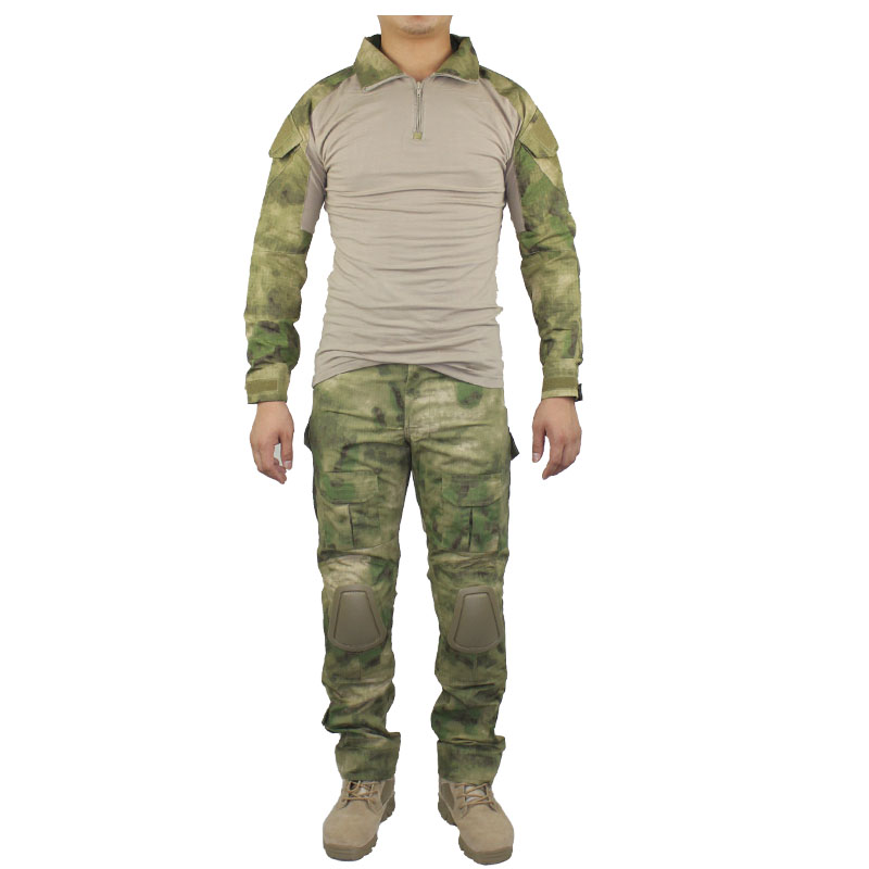 CQC Gen2 Tactical Airsoft Military Army Combat BDU Uniform Shirt & Pants Set Camouflage Outdoor Paintball Hunting A-TACS FG