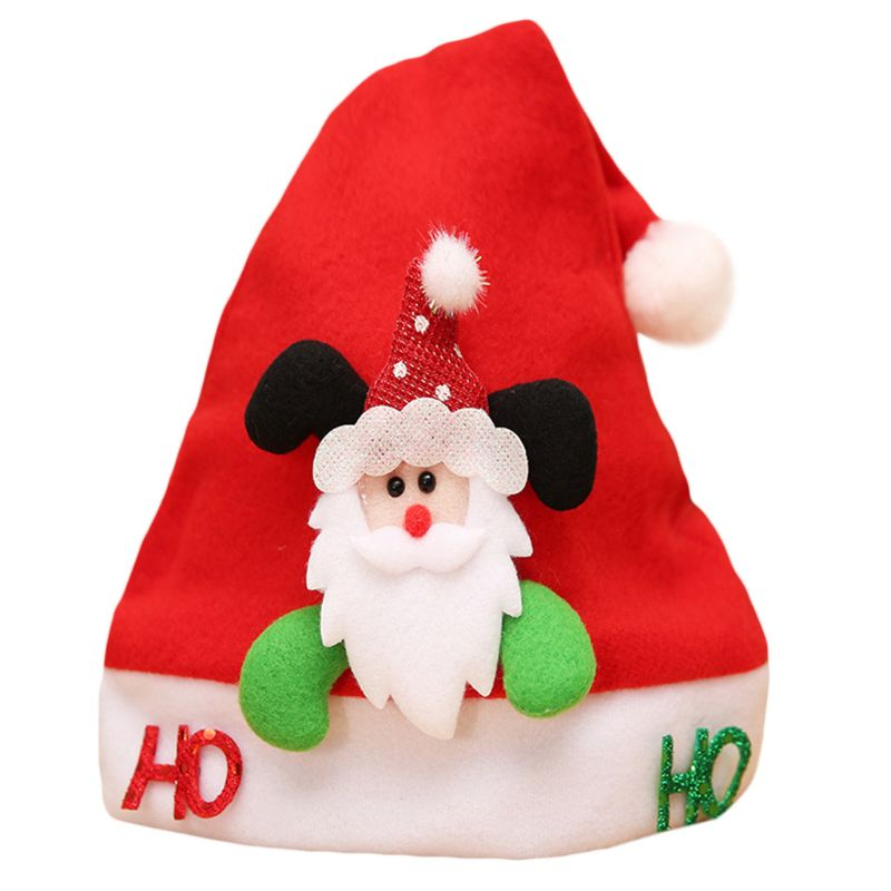 1 Stück Kinder Weihnachten Santa Claus Hut Bunte Cartoon Schneemann Buchstaben Pailletten Appliques Flanell Kappe Party Liefert 25x32 Cm W15 Kann Wiederholt Umgeformt Werden.
