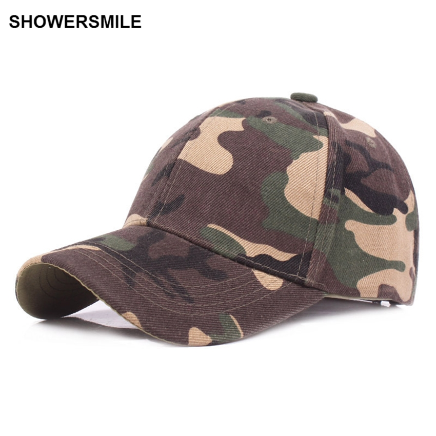 SHOWERSMILE Brand Army Baseball Caps Autumn Cotton Casual Camouflage Caps For Mens Women Camo Tactical Caps And Hats 2017 50 offroad 324w led light bar bumper roof styling refit headlight 12v 24v car truck suv 4x4 trailer wagon camper pickup lamp