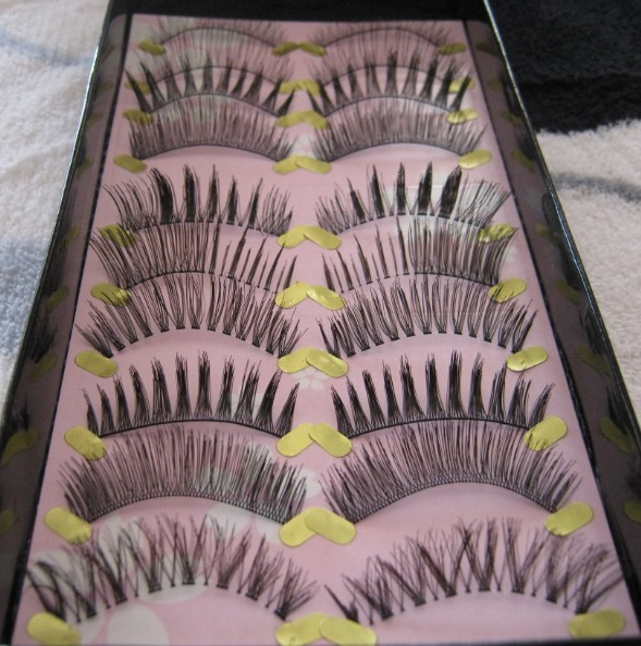 Cílios Handmade cílios postiços misturados entre si é linda cílios postiços
