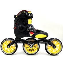 Professional Adults/Kids Speed Skates Roller Skate Shoes Women/Men Inline Skating Boots 3 Wheels 125