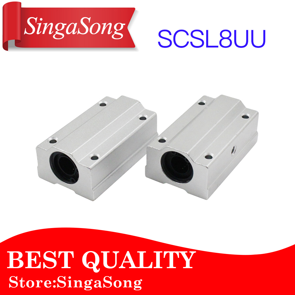 цены Free shipping 4pcs/lot SC8LUU SCS8LUU 8mm Linear Ball Bearing Block CNC Router pillow for XYZ
