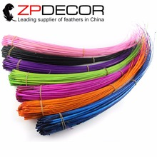 ZPDECOR Feather  50pieces/lot 50-60cm Reliable quality Multicolor Stripped Ostrich Spines For Hat Trimming (Any color can dyed)