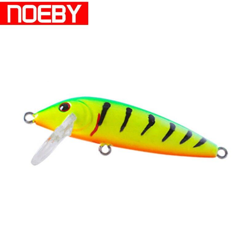 NOEBY NBL9431 Minnow Fishing Lure 50mm 3.3g Plastic Hard Bait Floating 0-1.0m with VMC Hooks Pesca Crankbait Fishing Tackle цена и фото