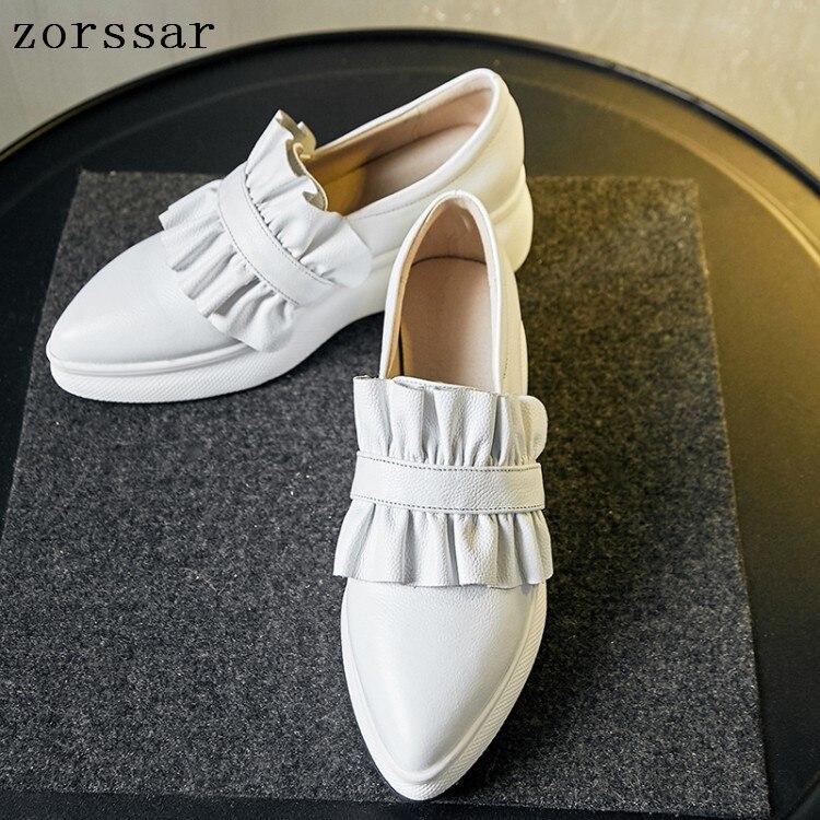 Mocassins en cuir véritable mocassins chaussures sans lacet femme mocassins chaussures décontractées chaussures pour dames chaussures plates bout pointu femmes