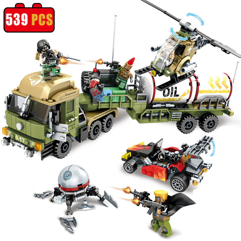 SEMBO block Military Oil Truck Educational Building Bricks Army Planes Helicopter Weapon Compatible Legoe Toys For Children Gift набор канцелярский planes