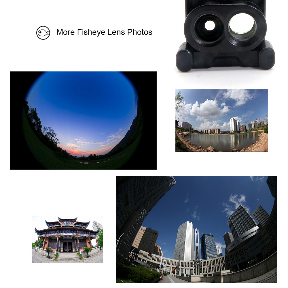 18 New Arrival Dual Camera Lens For iPhone X 8 Plus Fisheye Wide Angle Macro Lens For iPhone 7 Plus Phone Case Telescope Lens 9