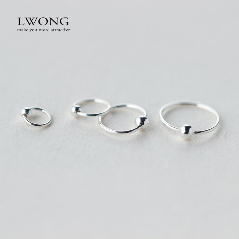 2de5e18b541aa US $1.9 30% OFF|Minimalist Ear Piercing Tragus Helix Cartilage Earrings 925  Sterling Sliver Tiny Ball Huggie Hoop Earrings 6mm 8mm 10mm 12mm-in Hoop ...