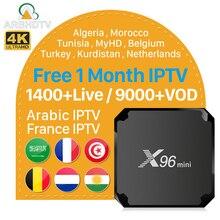 X96 Mini IPTV France Full HD Free 1Month IPTV Subscription S905W X96mini IP TV Box French Arabic Turkey Morocco Netherlands IPTV