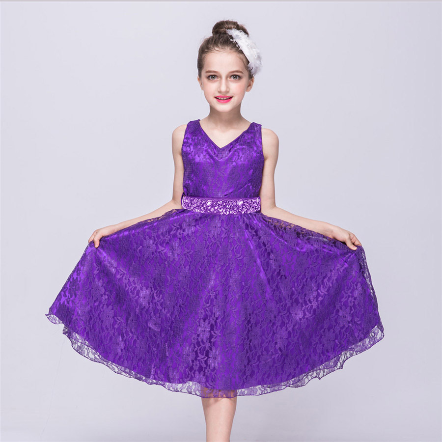 Popular purple wedding dresses for girls buy cheap purple wedding 2 12y flower girl dresses for wedding pageant purple lace communion dress for girls toddler ombrellifo Image collections
